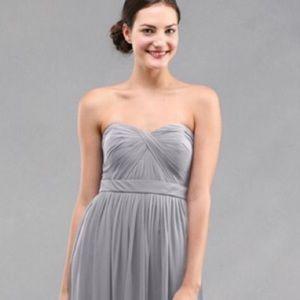 Jenny Yoo Aidan earl grey formal bridesmaid dress